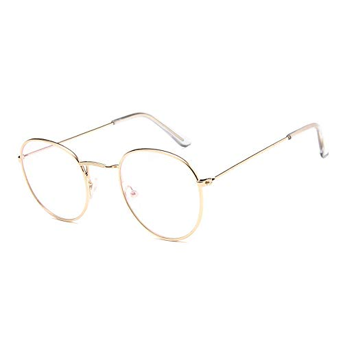 GUKOO klassische Brille Metallgestell Brillenfassung Vintage Brille Dekobrillen
