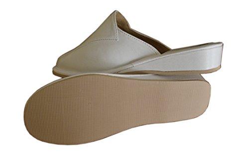 Slippers Natleat Womens Slippers 33 Mules-Zapatillas de estar por casa en Cuir Noir pour femme Noir 1 / White