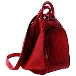 Deal Especial Women's Backpack Handbag (Red,De_Fhb_071)