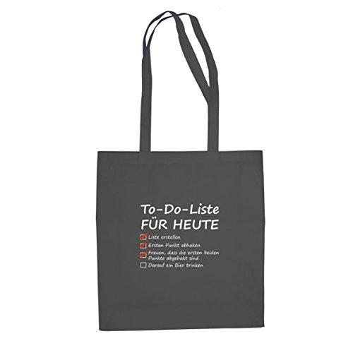 To Do Liste für Heute - Stofftasche / Beutel Grau