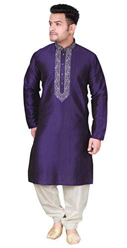 Desi Sarees Herren Salwar Kurta Pyjama Asiatische Hochzeit 1851 (XL (Brust - 42 Zoll), ()