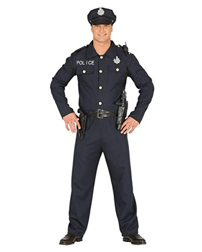Horror-Shop Police Officer Kostüm für Fasching, Motto Party und Halloween L