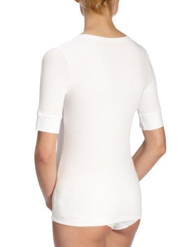 Huber Damen Unterhemd, 6011/ 1908 Da. Shirt kz. A. Weiß (WEISS 0500)