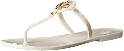 Tory Burch Sandalen Mini Miller Jelly In Gummi Elfenbein