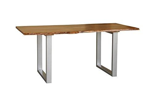 Generic Esstisch Baumkante Baumstamm Holz Tisch Massivholztisch Akazie massiv Design TOP (160x90cm)
