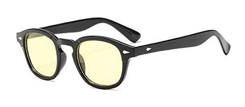 AmDxD Unisex Polarisierte Sonnenbrille | Linse aus PC | Sonnenbrille Vollrand UV400 Schutz Mode Brille | Für Autofahren, Wandern, Sport - Gelb