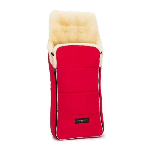 Lammfell Kinderwagen-Fußsack AROSA von WERNER CHRIST BABY - kuscheliger Buggy Lammfell-Fußsack, medizinisches Fell, als Wickelunterlage & Kinderwageneinlage verwendbar, in chili red (rot)