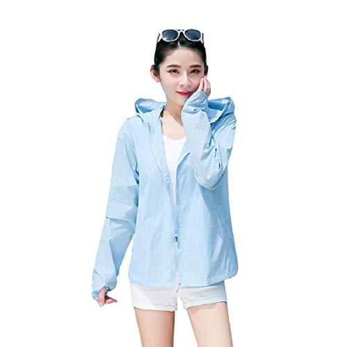Vaycally Frauen Langarm Surf Swim Shirts UPF50 + Frauen Sonnenschutz Jacke UV-Schutz Sommer Outdoor Sonnenschutz Tuch -
