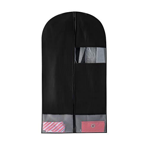 Bags for Less Taschen für weniger atmungsaktive und stabile Anzug- und Kleidertasche für Aufbewahrung und Reisen mit Netz-Zubehörtasche, Schwarz (42