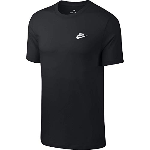 Nike M NSW Club Tee T-Shirt Homme, Noir (Black/White 013), FR : L (Taille Fabricant : L)