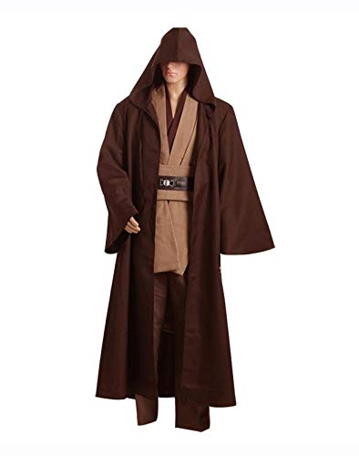 Fuman Star Wars Kenobi Jedi TUNIC Cosplay Kostüm Braun Version L