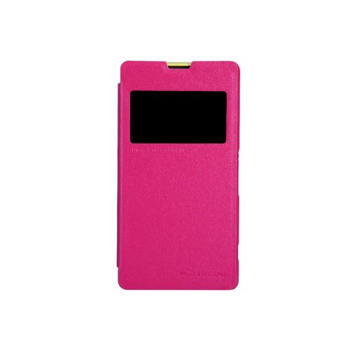 Nillkin Sparkle Leather Flip Stand Bumper Back Case Cover For Sony Xperia Z1 Compact Mini - Pink  available at amazon for Rs.639