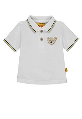 Steiff Baby-Jungen 1/4 Arm Poloshirt, Weiß (Bright White White 1000), 86