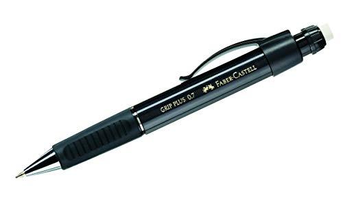 Faber-Castell 130733 - Druckbleistift GRIP PLUS, Minenstärke: 0,7 mm, Schaftfarbe: schwarz metallic