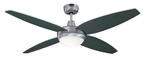 31ZRRxHP38L - Westinghouse Ceiling Fans 72546 Havanna One-Light 132 cm Four-Blade Indoor Ceiling Fan, Brushed Aluminum Finish with…