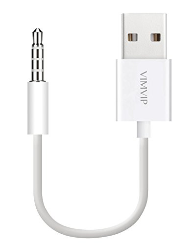 nextany 2 in 1 USB Sync Charger Adapter Kabel für Apple iPod shuffle 3., 4. und 5. gen-white