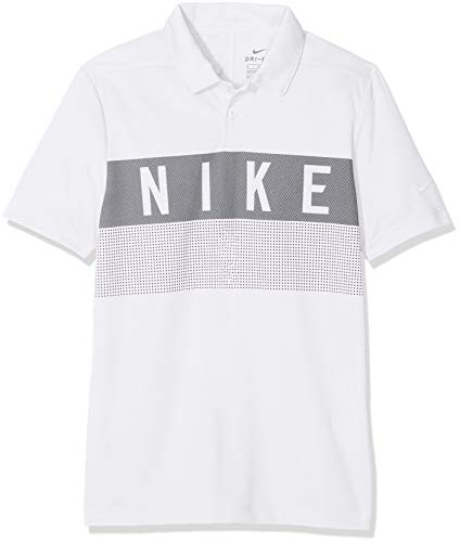 Nike Jungen Dri-FIT Golf-Polo T-shirt, Weiß (White/100), Gr. M (Golf Dri-fit Polo Nike)
