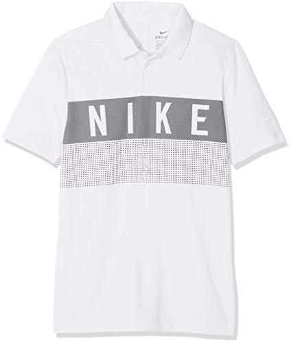 Nike Jungen Dri-FIT Golf-Polo T-shirt, Weiß (White/100), Gr. M (Nike Golf Shorts Dri Fit)