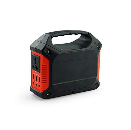 Comprajunta Power Bank Inverter Portable, 100W Leistung, 3 * 5V-2,1 A, 3 * 5,5 Mm 9-12,6 V/15A Und 1 Auslauf AC 110-240V 50/60Hz, Multifunktional Mit Generischem Stecker, Optionaler Adapter,Red 15 Amp 3-bank