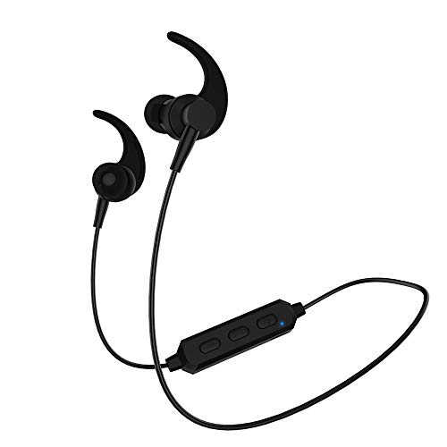 SCHITEC Auriculares Bluetooth 5.0 Inalámbricos Value Cascos Deportivos con Micrófono IPX5 Manos Libres Hi-Fi Sonido hasta 8h para iPad, iOS Android Móviles Smartphones PC