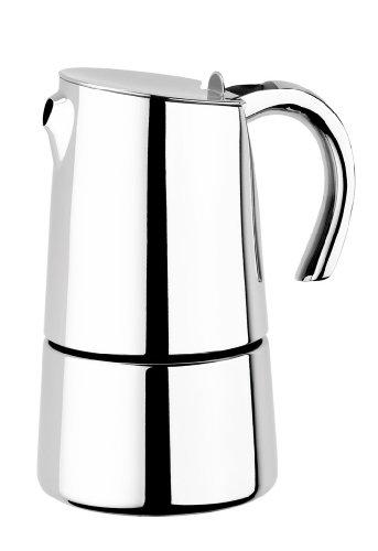BRA Bella - Cafetera, capacidad 2 tazas, acero inoxidable 18/10