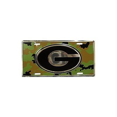 (6x12) University of Georgia Camo NCAA Chrome Tin License Plate by Poster Revolution