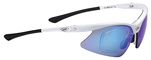 BBB Optiview Gafas, Unisex adulto, Blanca/Azul, UNICA