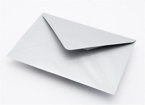 100 x Silver Shimmer Metallic Premium C7 Small Mini A7 Card Envelope Blanks