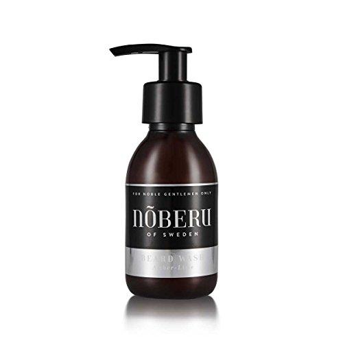 Nõberu Bart Shampoo – Amber-Lime – 125 ml (Premium Beard Wash | Bartshampoo für die tägliche Bartpflege | für 3-Tage Bärte, mittellange Bärte und Vollbärte geeignet | Beard Shampoo für den Gentleman | Amber-Limette)