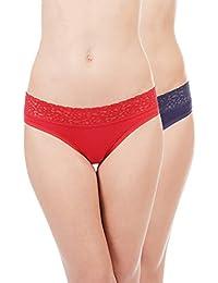 Amante Lace Cotton Bikini Panty Pack (Pack of 2)