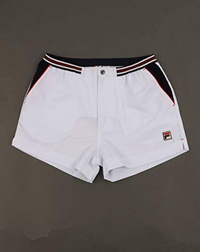 Fila Vintage Herren Hightide - Terry - Pocket - Streifen - Shorts, Weiß, Medium -