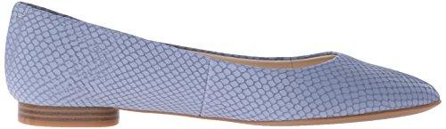 Nine West Onlee Leather Ballet Flat Medium Blue Leather