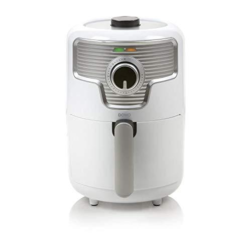 Domo DO517FR Airfryer Mini Heißluftfritteuse Deli-Fryer 1,6 Liter, 1000 W, Kunststoff, 1.6 liters, Weiß