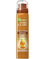Garnier Ambre Solaire Natural Bräuner Spray Gesicht, 1er Pack (1 x 75 ml)