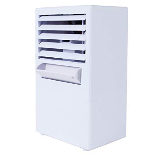 Ventilatore condizionatore portatile KOLY Mini evaporativo Circolatore dell'aria Umidificatore più freddo Purificatore Ventilatore ad Aria Condizionata per Casa/Ufficio/Camper/Garage (white)