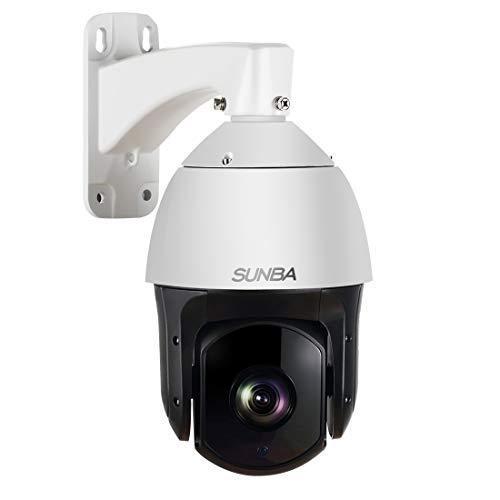 SUNBA 2MP 1080P HD, 20-facher optischer Zoom, Laser IR-Cut 250m, 4.7~94.0mm, Nachtsicht, Im Freien, Wasserdicht 120°/s Hochgeschwindigkeits-PTZ Überwachungskamera über IP-Netzwerk mit ONVIF PoE