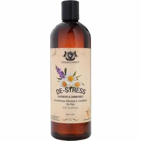 De-estrés Lavanda y Manzanilla Aromaterapia Shampoo y Acondicionador para los animales domésticos, medicado, blanqueando, Avena Champú Dog & Pet Odor Eliminator