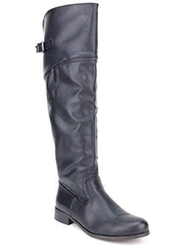 Cendriyon, Botte cavalière noire NANIA Mode Chaussures Femme Noir