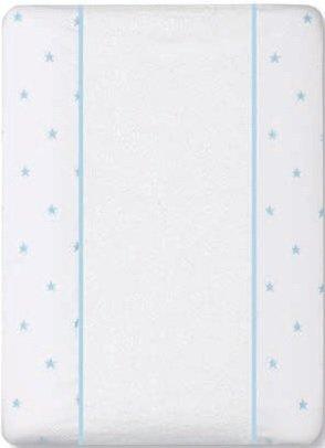 Bimbi Class - Funda cambiador, 50 x 80 cm, blanco y azul