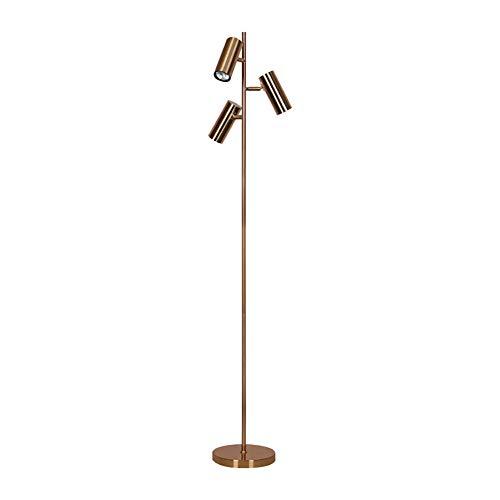 Antike Messing Stehlampe (Moderne 3 Weg Antique Brass Einstellbare Eisen Lesen Craft Stehleuchte Interiors Zeitgenössische Metall Lampe, Antik Messing Stehlampe)