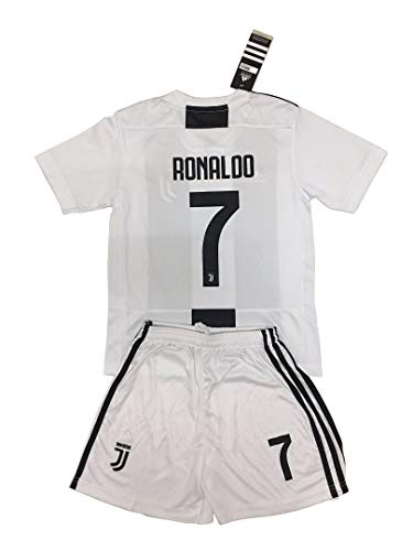 20cba68f7e9 Juventus 2018-19 7 Cristiano Ronaldo Home Youths Football Soccer Kids Jersey    Short