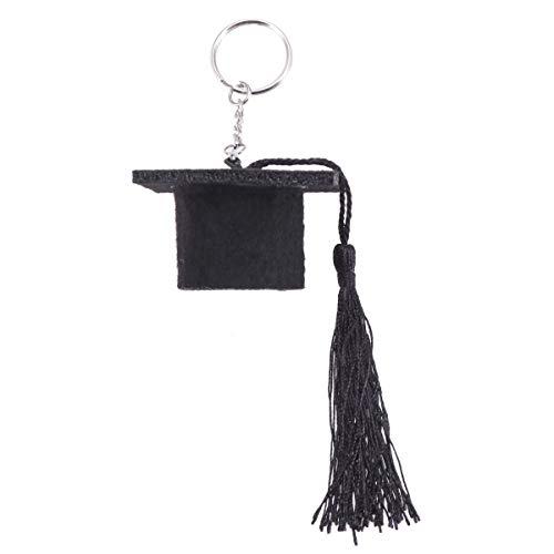 TENDYCOCO Anhänger Schlüsselanhänger Graduation Plüsch Dr. Cap Charm DIY Schlüsselanhänger Schlüsselanhänger (Schwarz) (Graduation Cap Diy)