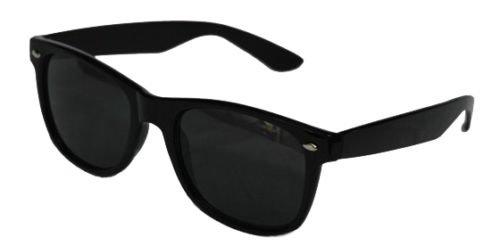 Schwarz Damen Herren Sonnenbrille Wayfarer Aviator Style Neon 80er Retro Fashion Shades UV40