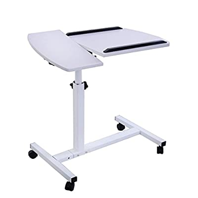 FDS Adjustable Laptop Table Sofa Side Notebook Stand Tray with Moouse Board - low-cost UK sofabed shop.