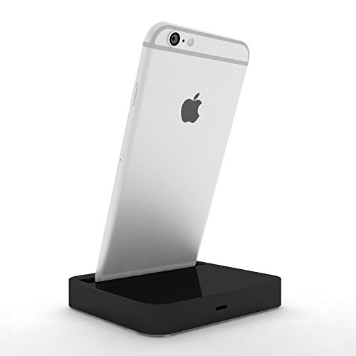 Coverlounge - Lightning Dockingstation/Dock/Ladestation [2.1 A] kompatibel mit Apple iPhone XS/X/XR/8/8-Plus/7/7-Plus/6s/6s-Plus/6/5/SE mit Lightning Anschluss | Farbe: schwarz 2.1 Ipod-docking-station
