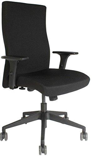 Bürodrehstuhl Syncron mit Armlehnen. Höhenverstellbare, vollumpolsterte
