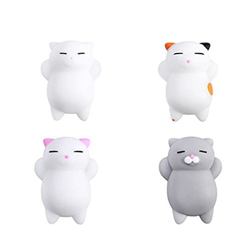 Yakiki Cat Squishy Gato Juguetes Mini Mochi Squeeze Kitty Toy Buns Stress Relief Toy Tiernos squishies de Animales Que recuperan su Forma Lentamente