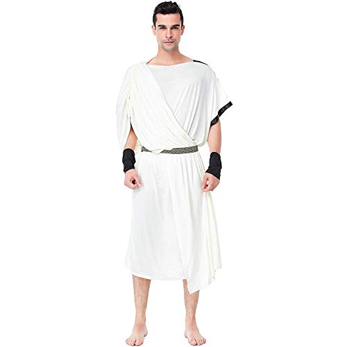 Göttin Kostüm Olympischen - NiQiShangMao Herren Griechisch Toga Kostüm Damen Griechisch Olympische Göttin Kostüme Kleid Halloween Karneval Purim Party Fancy Cosplay