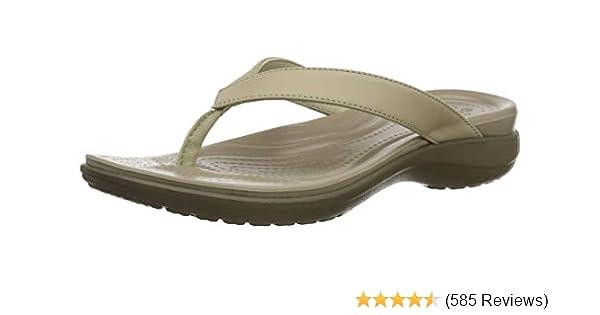 f30a92ea4 Crocs Women Capri V Flip Flops: Amazon.co.uk: Shoes & Bags