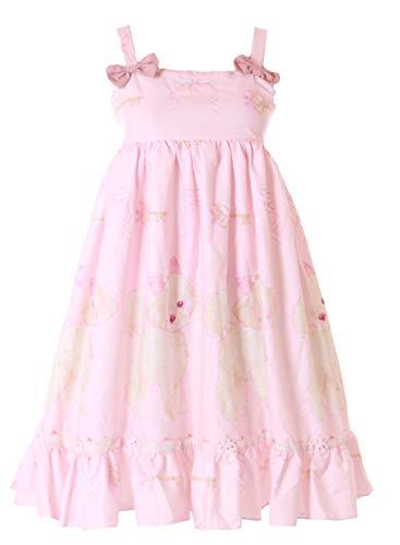 JSK-33 Rosa Schleife Baby-Doll Kleid Puppy Hund Pastel Goth Sweet Lolita Cosplay Kostüm ()